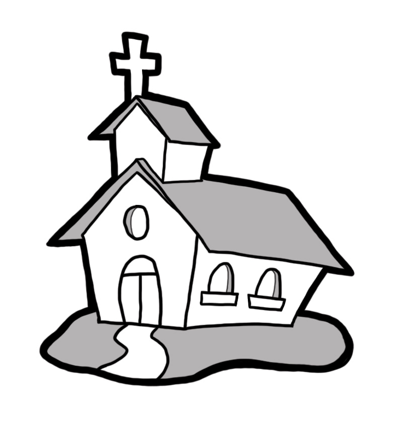 Children at church clipart black and white clip free library Chapel Clipart | Free download best Chapel Clipart on ClipArtMag.com clip free library