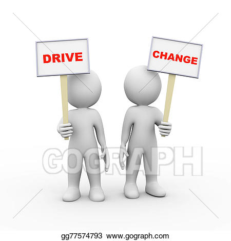 Character change clipart graphic stock Stock Illustration - 3d people holding sign board banner drive ... graphic stock
