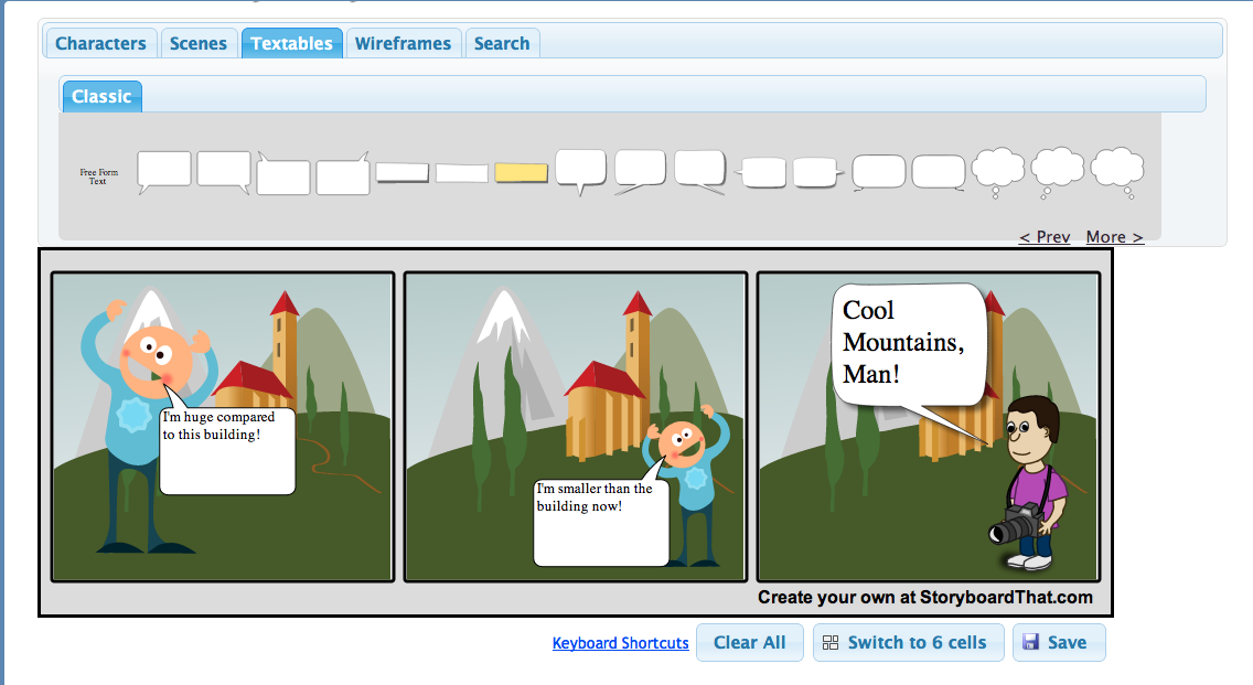 Character clipart to use for storyboarding. Free technology teachers storyboard