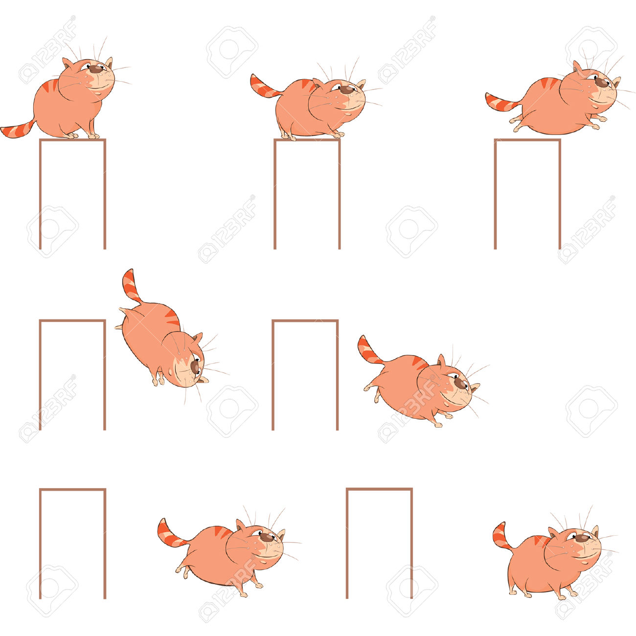 Character clipart to use for storyboarding. Cartoon cute cat a