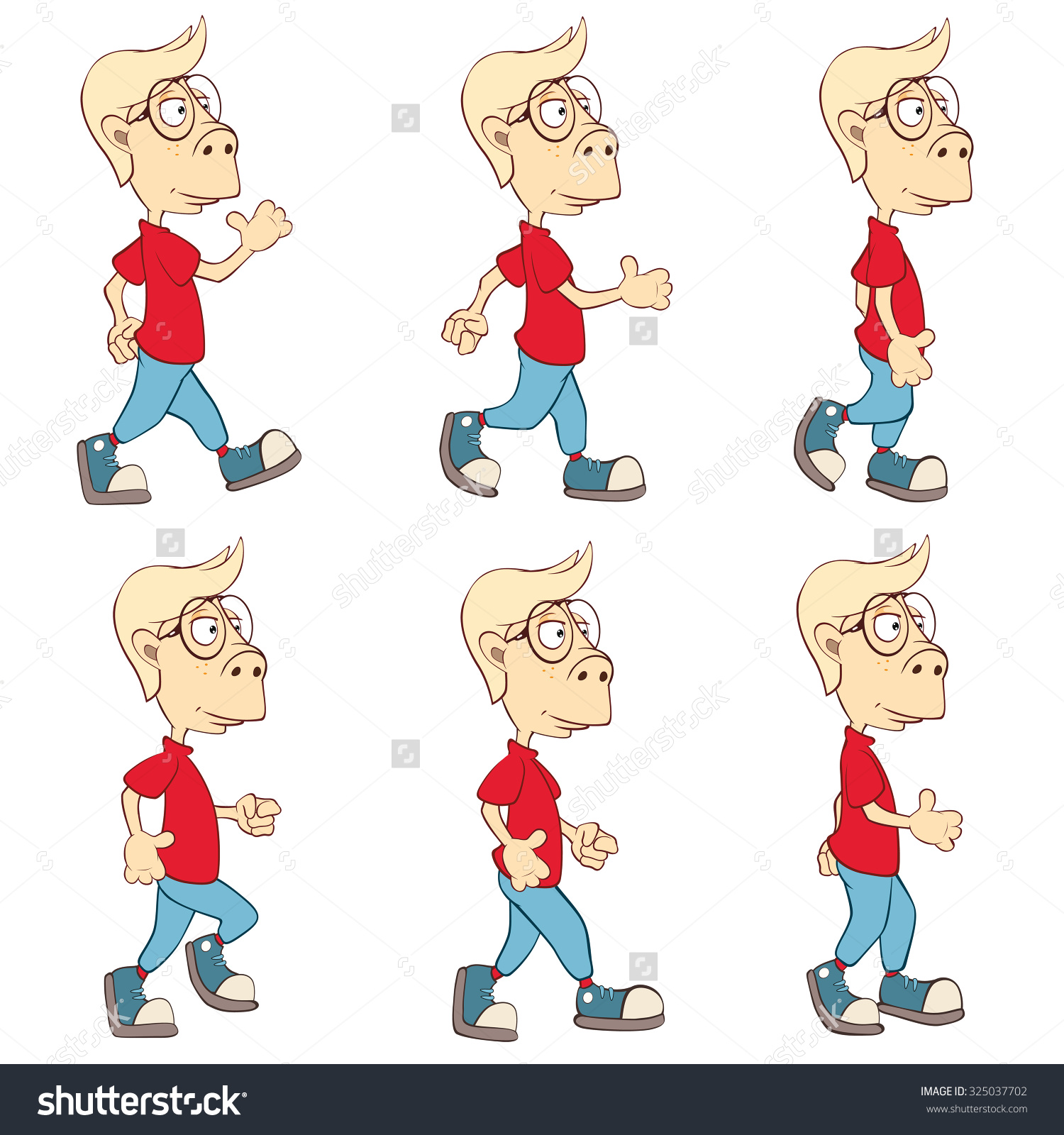 Character clipart to use for storyboarding clipart freeuse library Character Cute Cartoon Boy Computer Game Stock Vector 325037702 ... clipart freeuse library