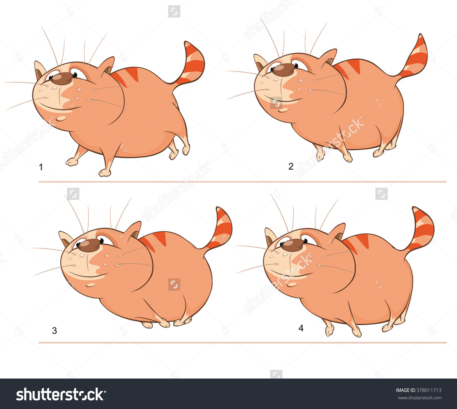 Character clipart to use for storyboarding png Vector Cartoon Character Cute Cat For A Computer Game. Storyboard ... png