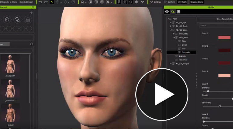 Character creator jpg library Character Creator Design Unlimited 3D Characters - iClone jpg library