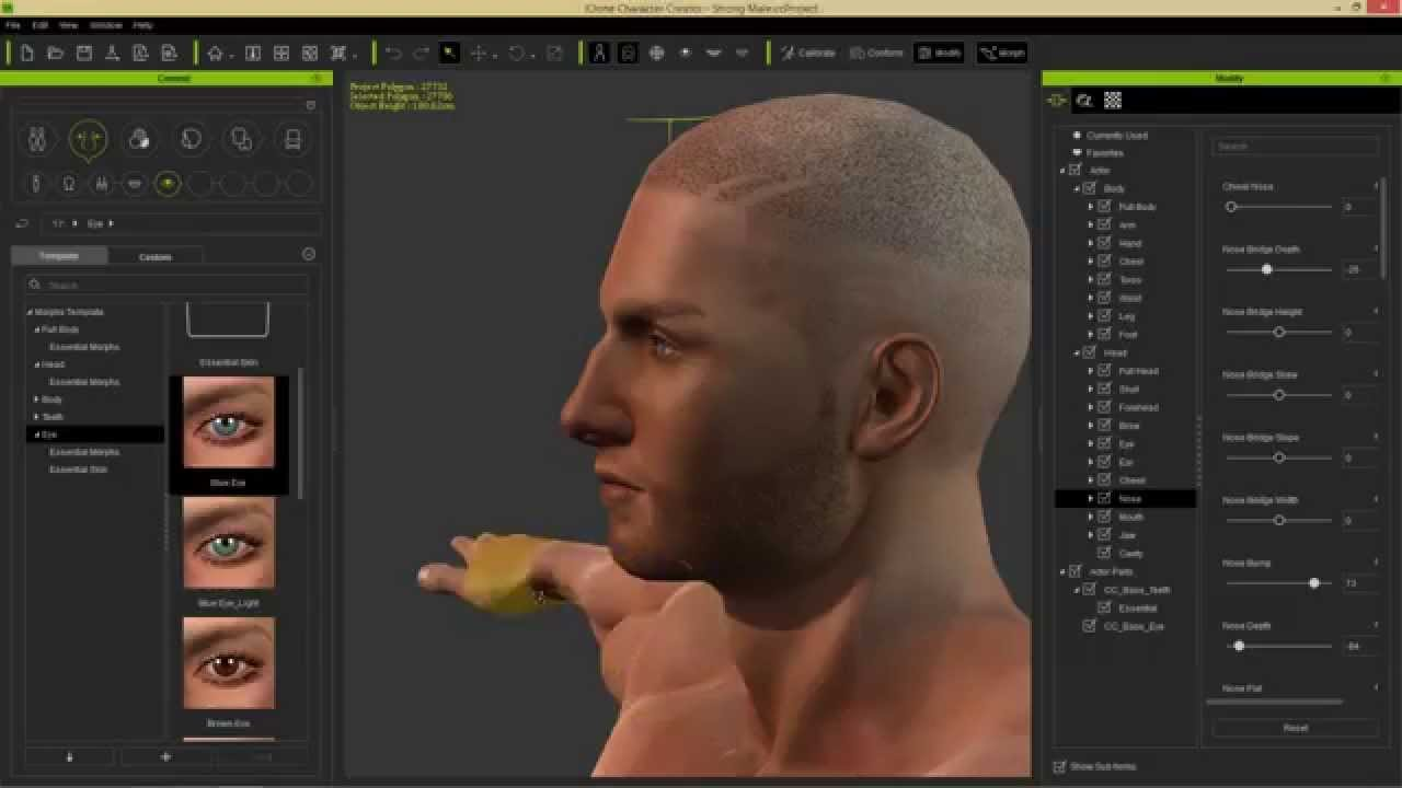 Character creator image royalty free library iClone Character Creator Tutorial - Character Creator Basics & UI ... image royalty free library