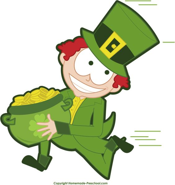 Character day in prek clipart svg freeuse download Free St. Patrick's day Clipart: www.homemade-preschool.com/Free ... svg freeuse download