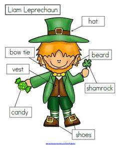 Character day in prek clipart png royalty free library Cute St. Patrick's Day Clipart. Shamrocks, rainbow, banners, etc ... png royalty free library
