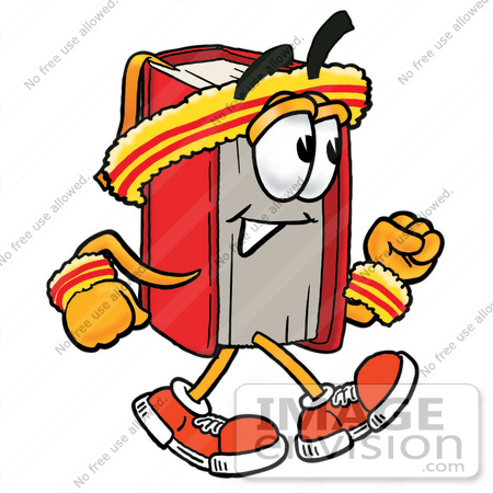 Character in book clipart. Cartoon walking kid clip