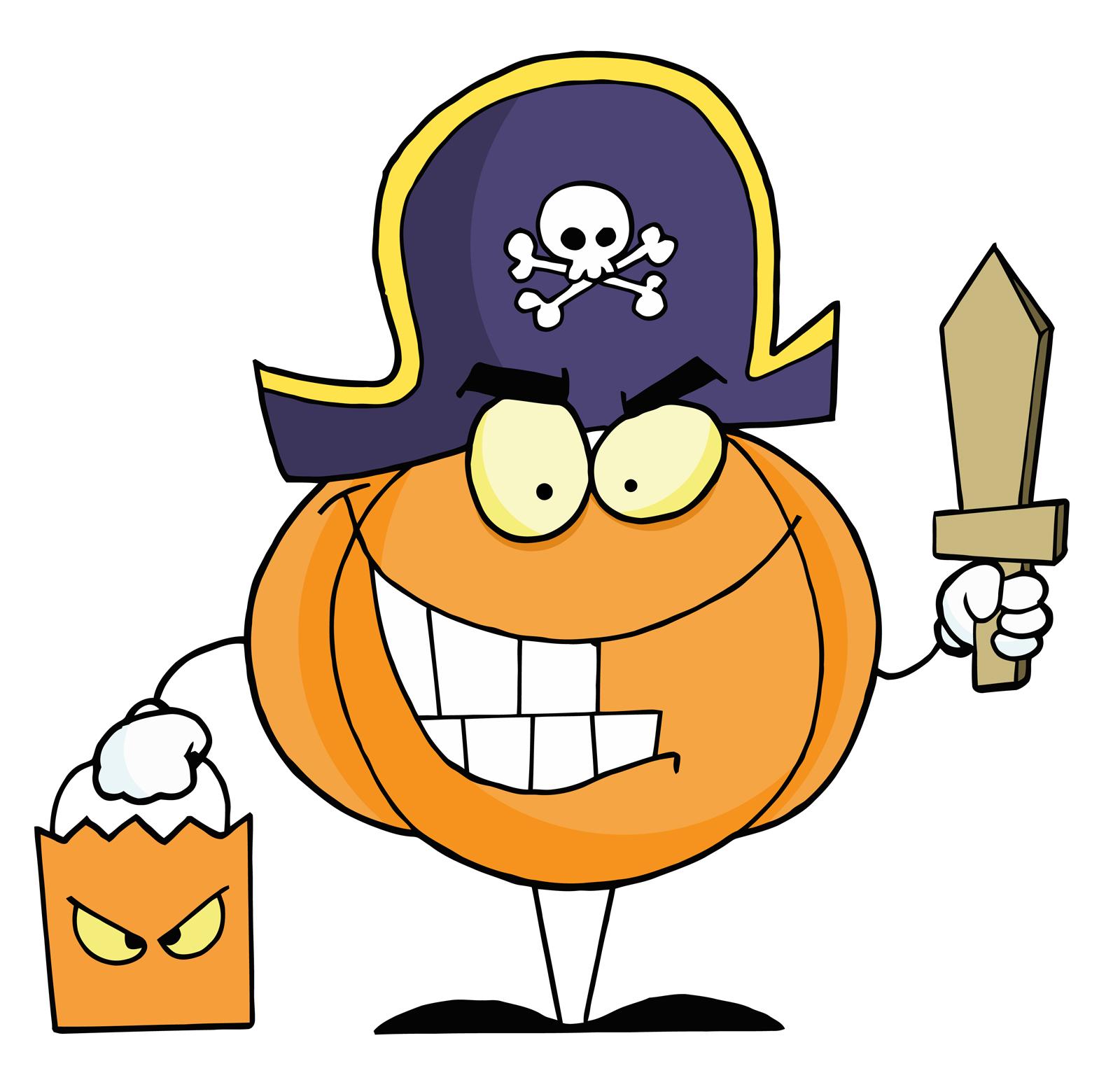 Character pumpkin clipart vector free stock Pirate Pumpkin Clipart - Clipart Kid vector free stock