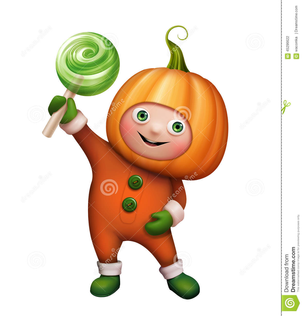 Character pumpkin clipart clip art black and white Boy In Pumpkin Costume, Halloween Clip Art Stock Illustration ... clip art black and white