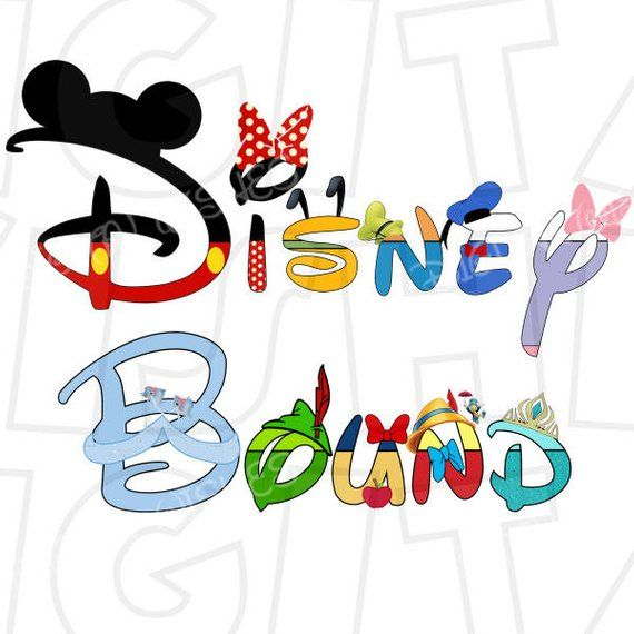 Disney bound clipart png stock Disney Bound in character text Family Vacation Digital Iron on ... png stock