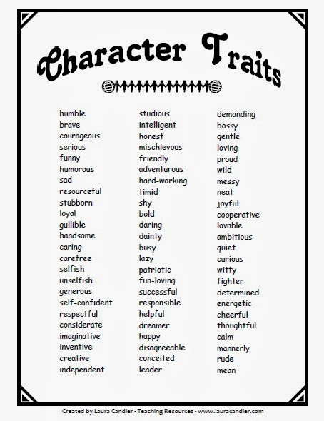 Character traits banner freeuse Teaching Characterization with Mentor Texts - Comprehension Connection banner freeuse