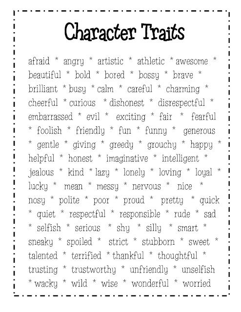 Character traits svg black and white 17 Best ideas about Character Traits Graphic Organizer on ... svg black and white