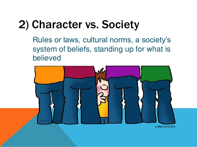 Character vs self clipart clip art library stock Identifying Literary Conflict clip art library stock