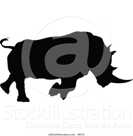 Charging rhino clipart picture black and white stock Download rhinoceros silhouette charging clipart Rhinoceros picture black and white stock