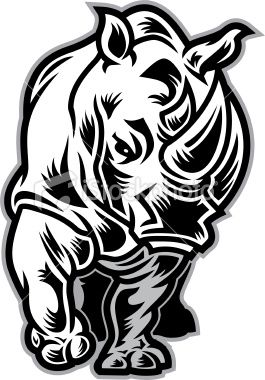 Charging rhino clipart free library This Charging Rhino mascot illustration is great for any school ... free library