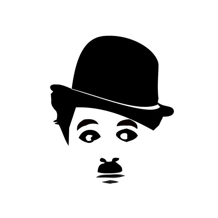 Charles chaplin clipart jpg black and white desenhos de charlot | charlie chaplin stencils | Inicio » Nuestra ... jpg black and white