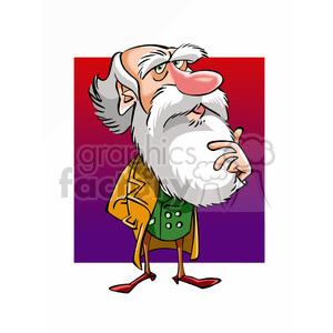 Charles darwin clipart jpg stock Charles Darwin cartoon caricature clipart. Royalty-free clipart # 391700 jpg stock