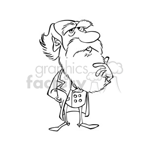 Charles darwin clipart picture download Charles Darwin bw cartoon caricature clipart. Royalty-free clipart # 391684 picture download