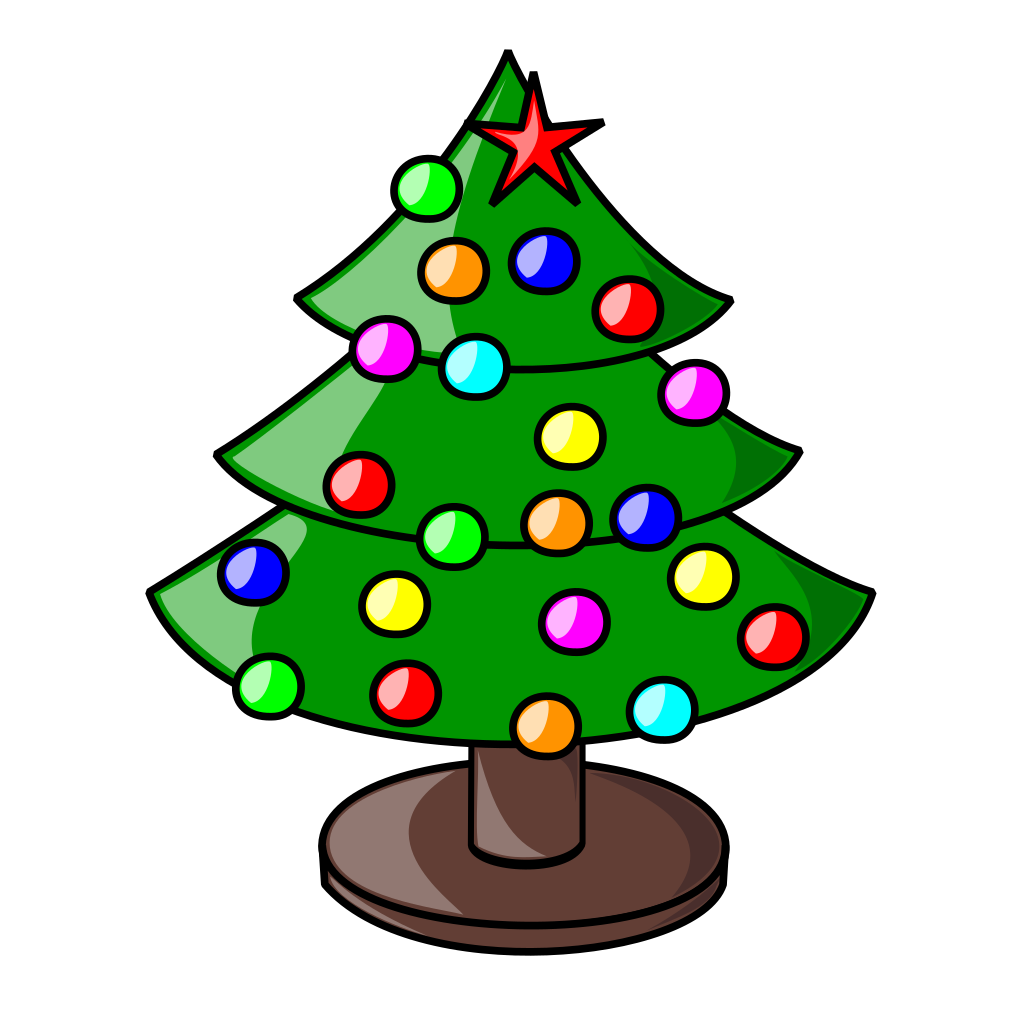 Fancy christmas tree clipart picture library File:Xmas tree.svg - Wikimedia Commons picture library
