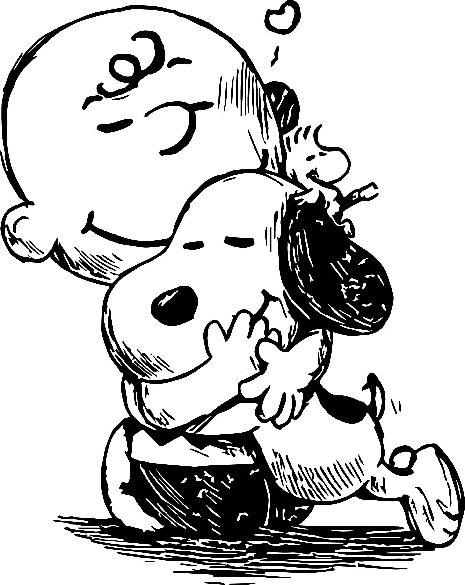 Free charlie brown valentine clipart coloring pages graphic black and white download nice Snoopy And Charlie Brown Black White Sketch Coloring Page ... graphic black and white download