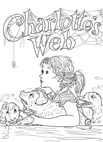 Charlottes web clipart graphic stock Charlotte\'s Web coloring page | Free Printable Coloring Pages graphic stock