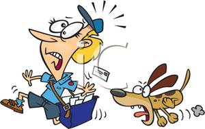 Chase clipart clipart library download Cartoon of a Postman Being Chased By a Dog - Royalty Free Clipart ... clipart library download