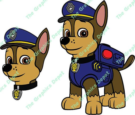 Chase head paw patrol clipart graphic download Chase head paw patrol clipart - ClipartFest graphic download