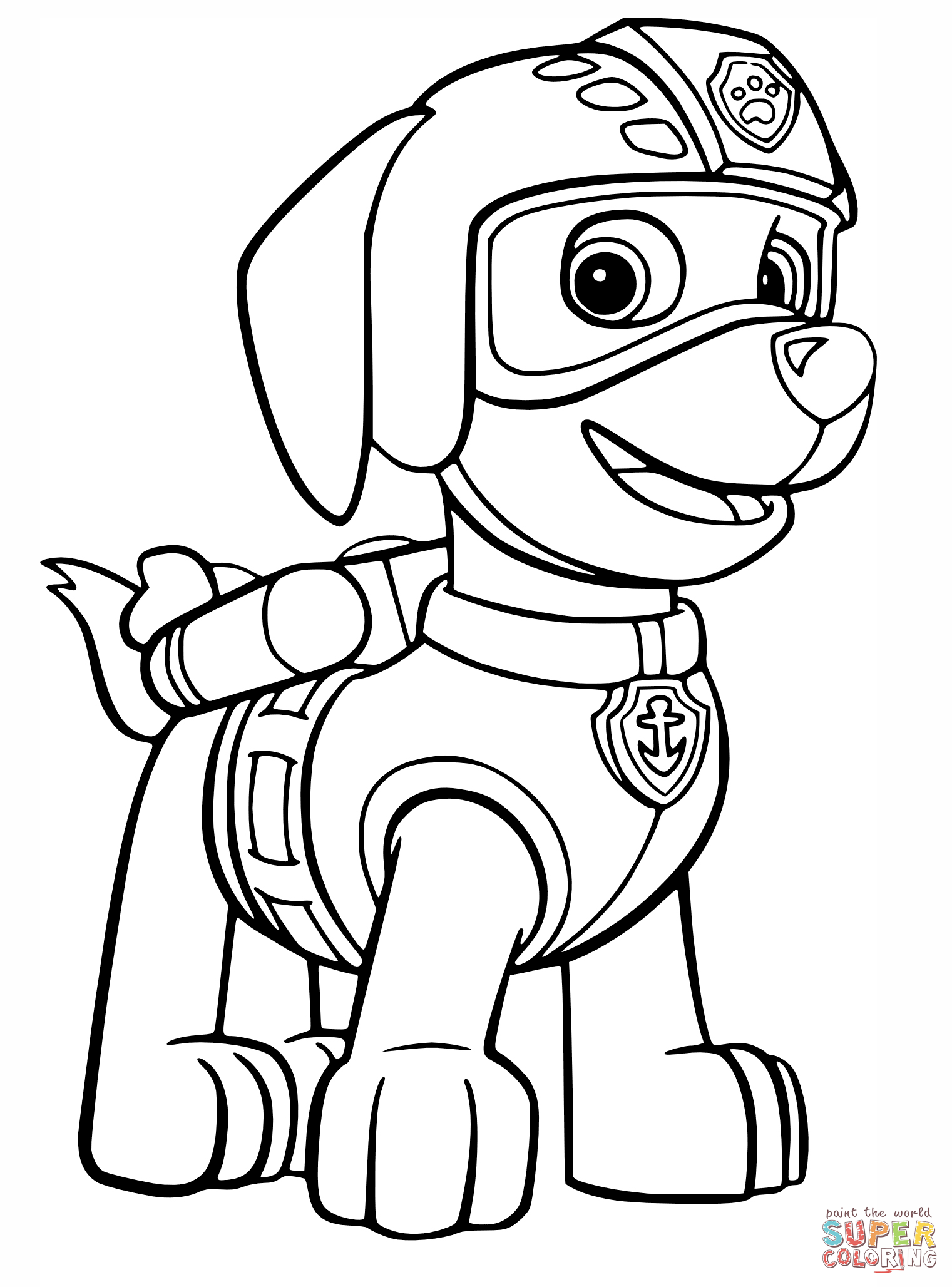 Chase head paw patrol clipart clipart freeuse library PAW Patrol coloring pages | Free Coloring Pages clipart freeuse library
