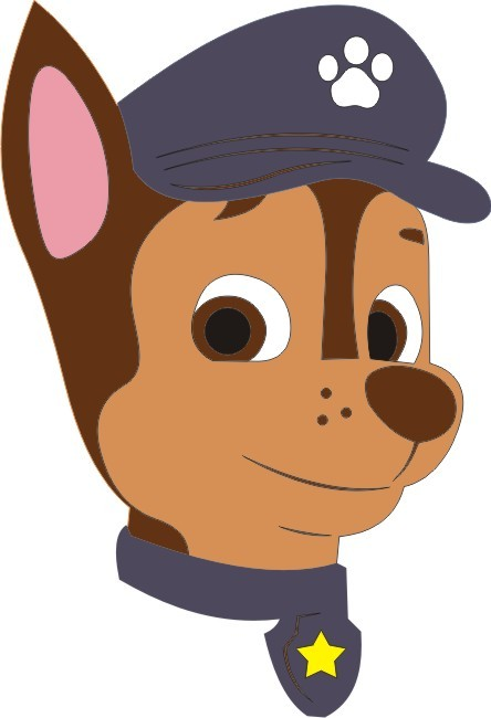 Chase head paw patrol clipart image free stock Petticoat Parlor UK Chase - Paw Patrol Character image free stock