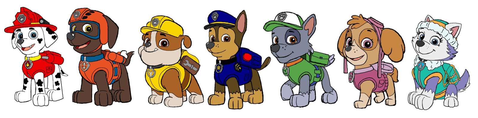 Chase the dog from paw partols clipart png black and white download pawpatrol - DeviantArt png black and white download