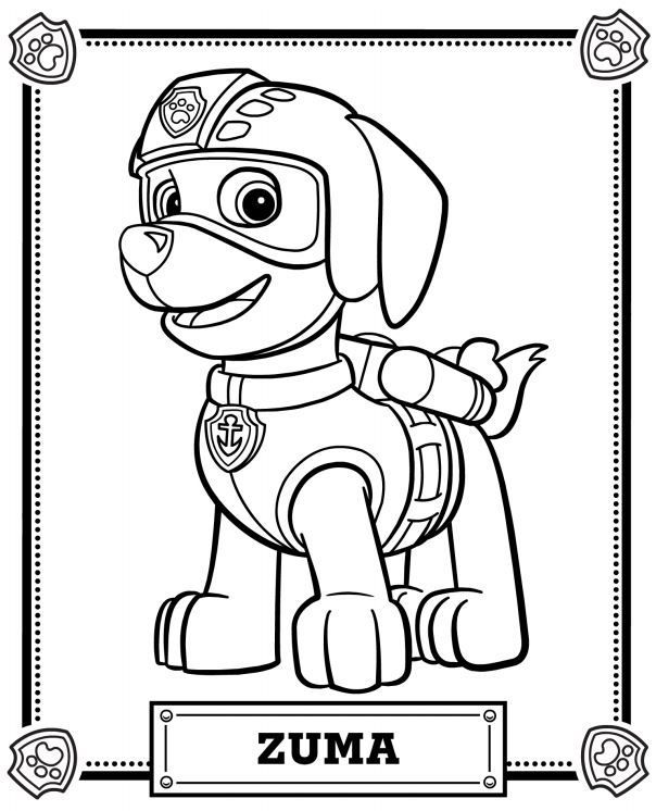 Chase the dog from paw partols clipart coloring page jpg library stock 1000+ images about Coloring Pages on Pinterest | Disney, Coloring ... jpg library stock