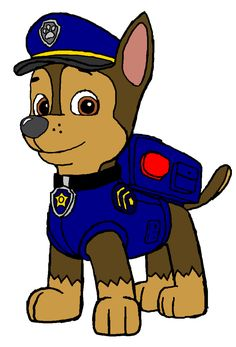Chase the dog from paw partols clipart coloring page transparent library Paw Patrol Coloring Pages: Chase | Coloring Pages for kids ... transparent library
