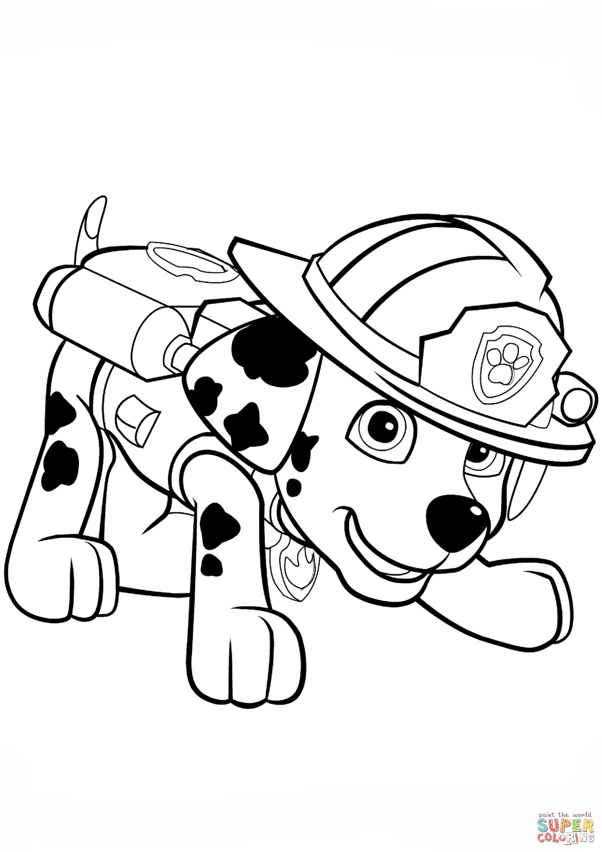 Chase the dog from paw partols clipart coloring page freeuse stock Paw Patrol Marshall Puppy coloring page | Free Printable Coloring ... freeuse stock