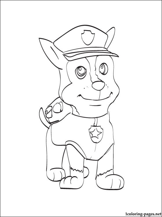 Chase the dog from paw partols clipart coloring page vector freeuse Chase the dog from paw partols clipart coloring page - ClipartFest vector freeuse