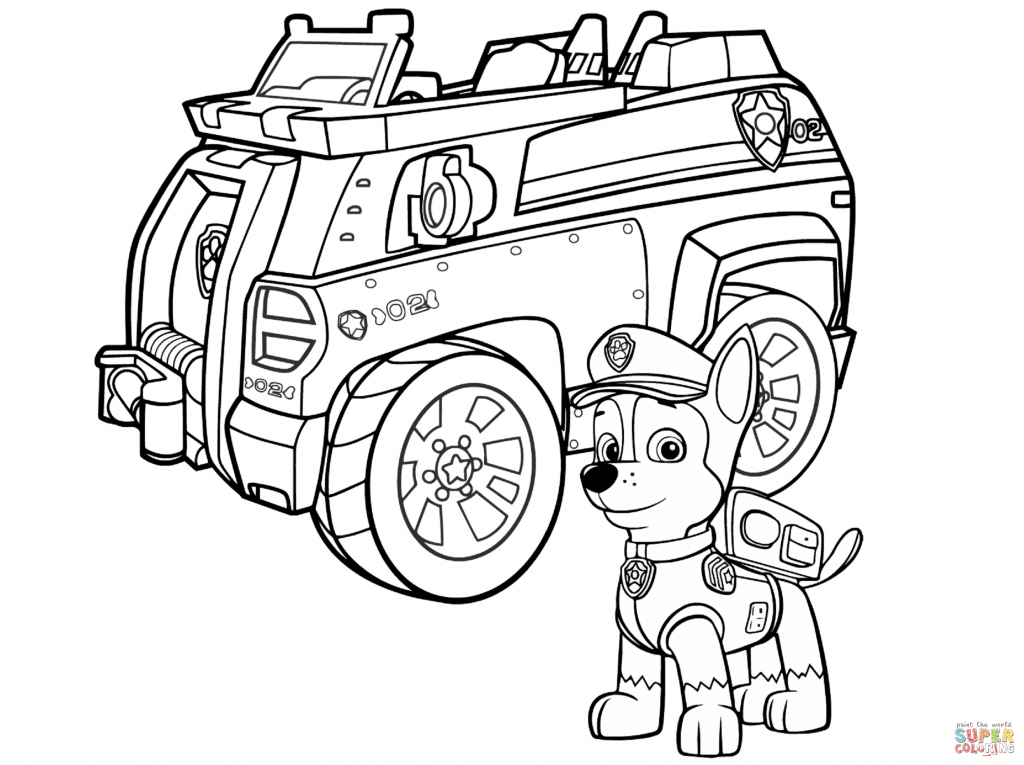 Chase the police dog clipart banner transparent Police Car Coloring Pages - Whataboutmimi.com banner transparent