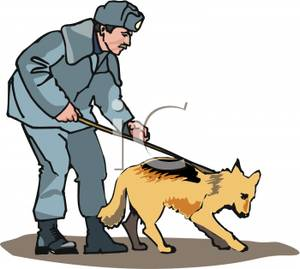 Chase the police dog clipart jpg free library Police officer and dog clipart - ClipartFest jpg free library