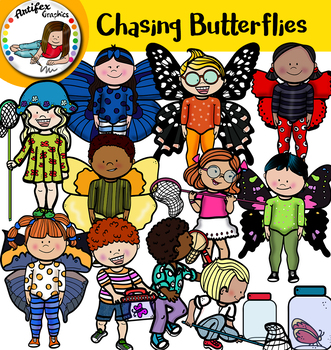 Chasing butterflies clipart clipart library Kids chasing butterflies clip art clipart library