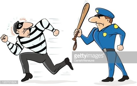 Chasing clipart svg royalty free Cop Chasing Burglar premium clipart - ClipartLogo.com svg royalty free