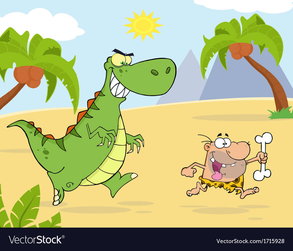 Chasing clipart picture transparent download Royalty Free RF Clipart Angry Dinosaur Chasing picture transparent download