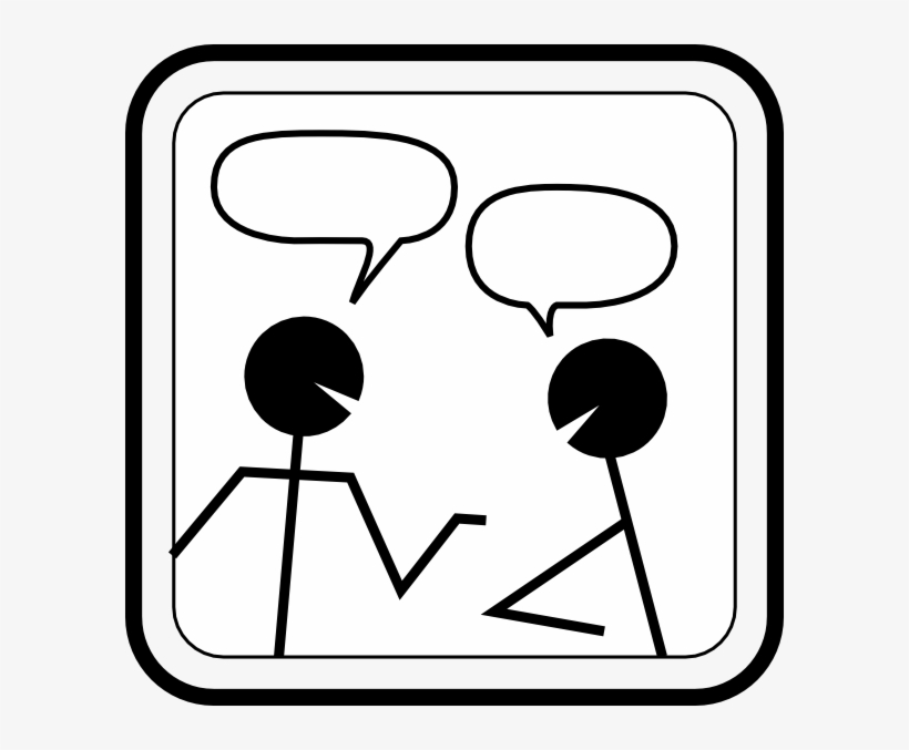 Chat clipart png free stock Conversation Clip Art - Chat Clipart Black And White - Free ... png free stock