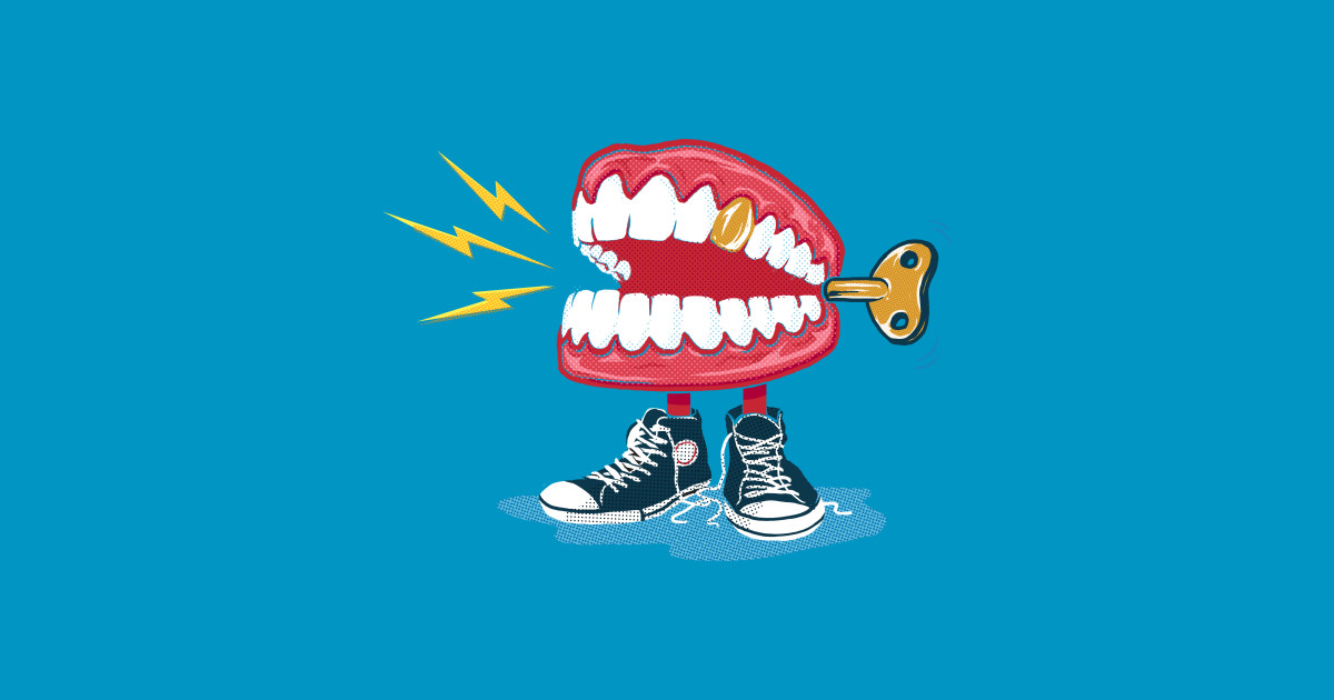 Chattering teeth clipart royalty free Chatter Teeth by jakereeder11 royalty free