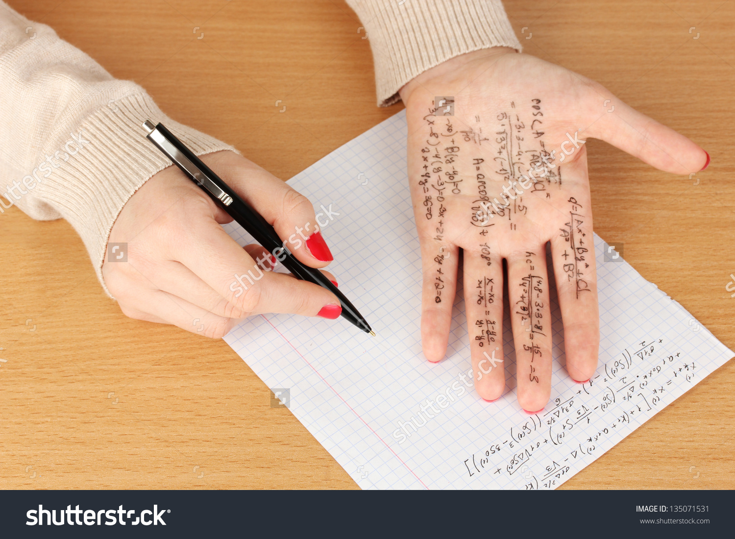 Write Cheat Sheet On Hand On Stock Photo 135071531 - Shutterstock png freeuse download