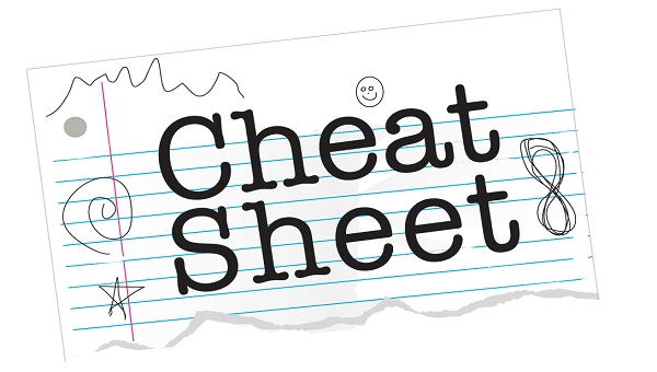 Cheat sheet clipart - ClipartFest banner stock