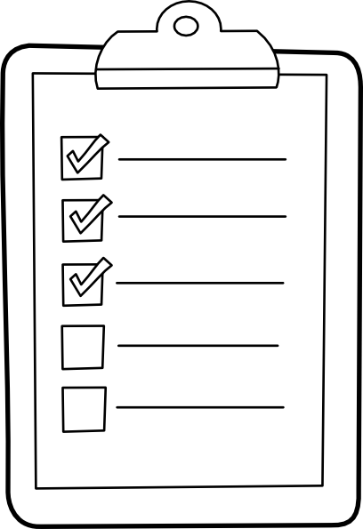 Check list clip art clip black and white download Check List Outline Clip Art at Clker.com - vector clip art online ... clip black and white download