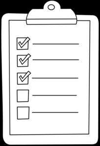 Check list clip art graphic black and white stock Check List Clipart - Clipart Kid graphic black and white stock