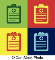 Check list health form clipart clip royalty free library Medical research report vector illustration, flat cartoon health or ... clip royalty free library