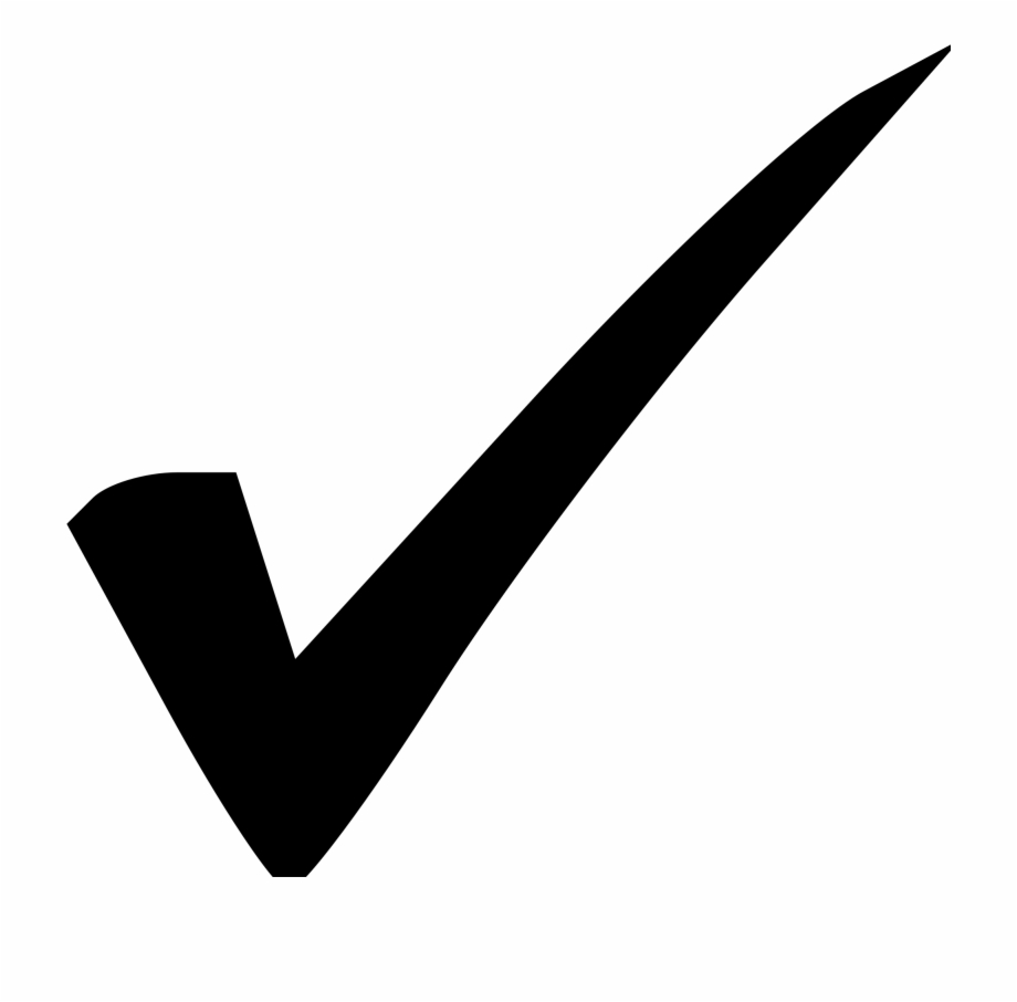 Check mark clipart transparent picture royalty free library Checkmark Clipart Endorsement - Black Check Mark Transparent ... picture royalty free library