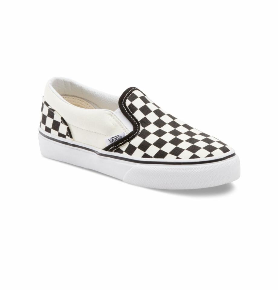 Checker board vans clipart jpg black and white Vans Kids Classic Slip-on Black/white - Kids Checkerboard Vans Free ... jpg black and white