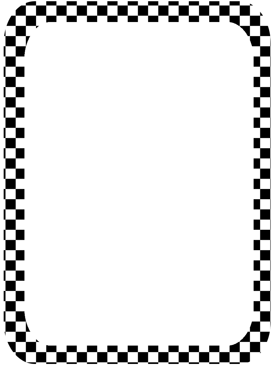 Checker border black and white clipart free image library Free Checkerboard Border, Download Free Clip Art, Free Clip Art on ... image library