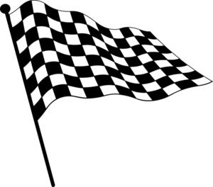 Checkered flags clipart free jpg library stock Checkered Flag Clipart Image: Clip Art Illustration Of A Checkered ... jpg library stock